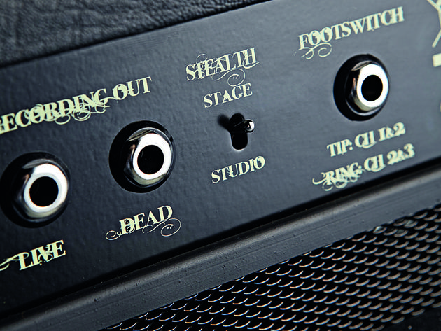 You can record with the amp's speaker on (live) or off (dead). The studio mode switches the amp to very low volume.