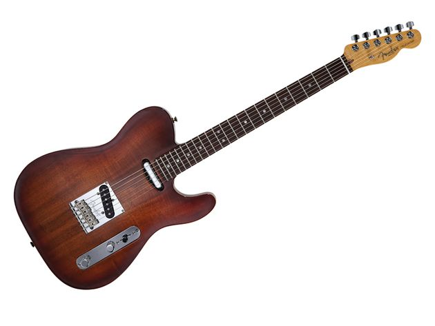 Not keen on the Koa Top Tele's dark colours? A flame maple cap version is also available in the Select series.