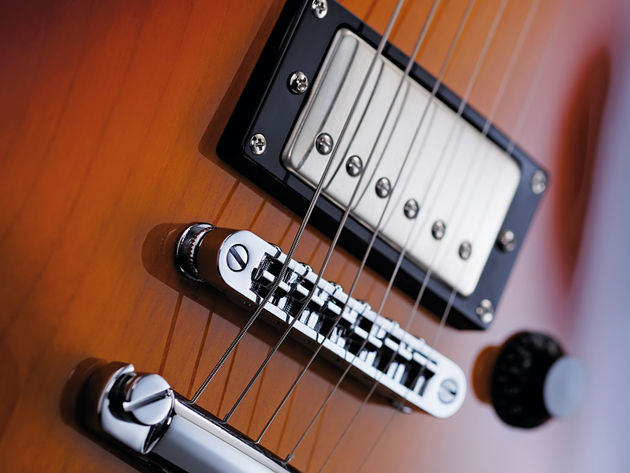 The humbuckers on the Fret-King Eclat Standard are Trevor Wilkinson's own WVC models.