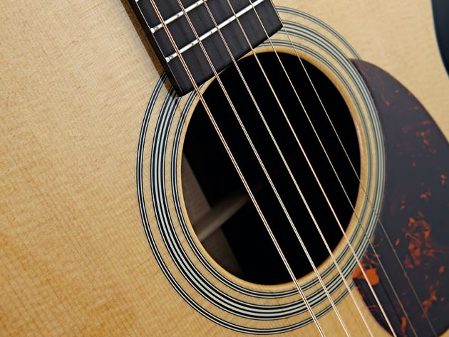 A tortoiseshell pickguard is one of the subtle tweaks Martin has applied to the new, improved OM-21.
