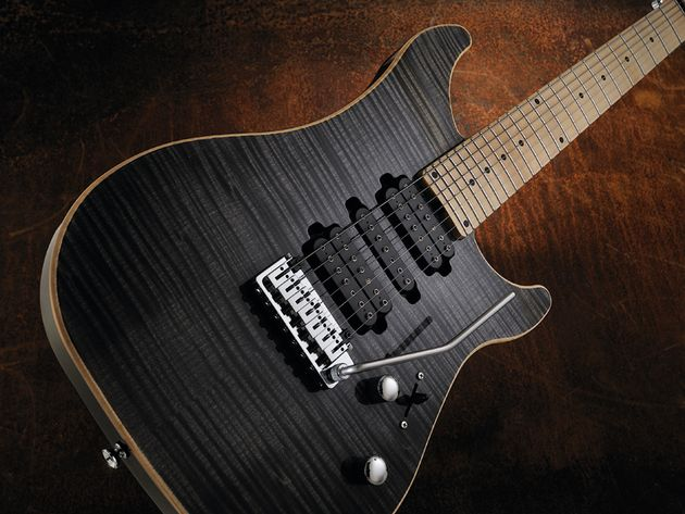 The Vigier Excalibur's 24-fret neck (with zero fret) is highly playable despite the extra girth.