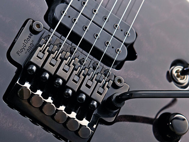 The Soloist 6's Floyd Rose Pro has slightly narrower-than-usual string spacing.
