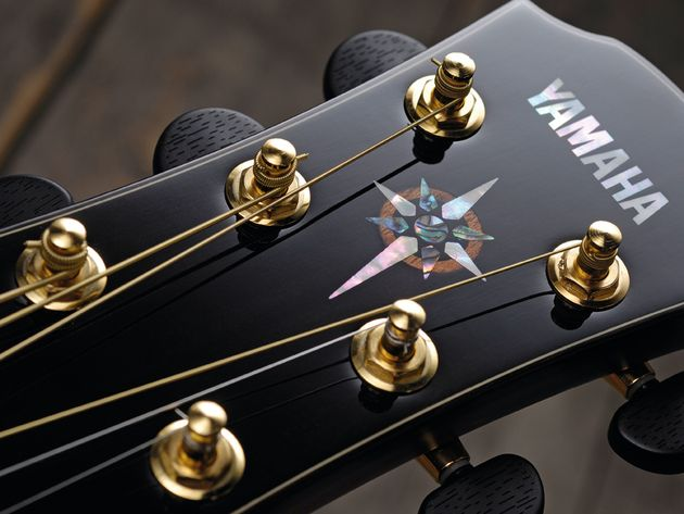 Die-cast enclosed ebony tuners and a tasteful motif adorn the CPX's headstock.