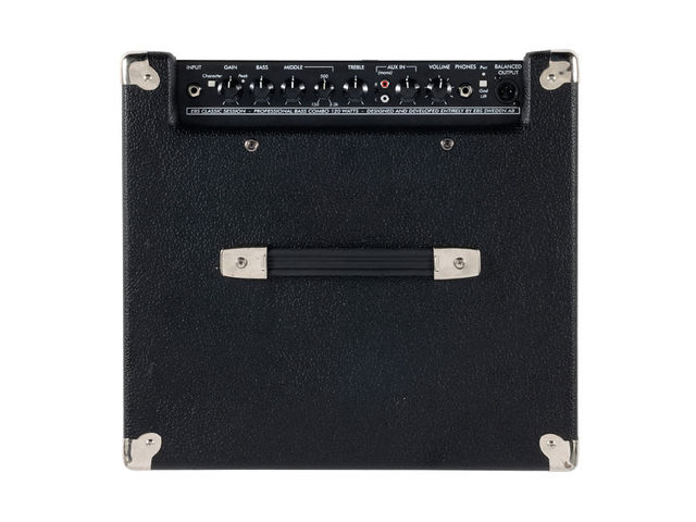 The amp is almost a perfect cube, and of reasonable weight, but the top-positioned handle is more than adequate for a single-person lift.