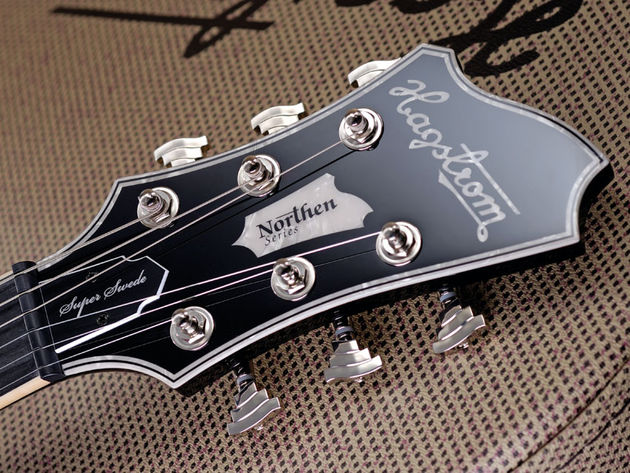 The Hagstrom asymmetric headstock was designed by James D'Aquisto in 1969