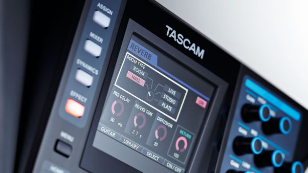 There's a colour display, which is new for a Tascam machine