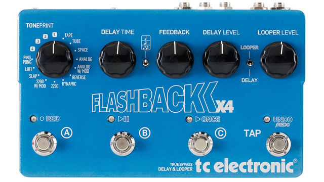 Like Line 6's DL4, the Flashback X4 features three footswitchable delays plus tap tempo