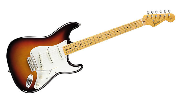 The simple Two-Colour Sunburst over a lightweight, plain-looking alder body looks utterly timeless