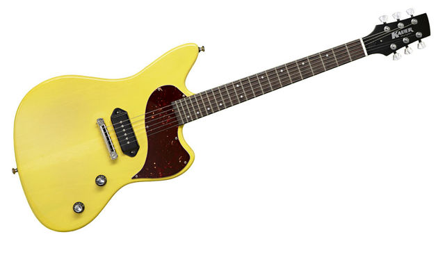 The Daylighter JR is a great-looking cross between a Jazzmaster, a non-reverse Firebird I and Les Paul Junior