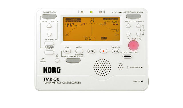 The TMR-50 combines a metronome, tuner and a mono digital recorder