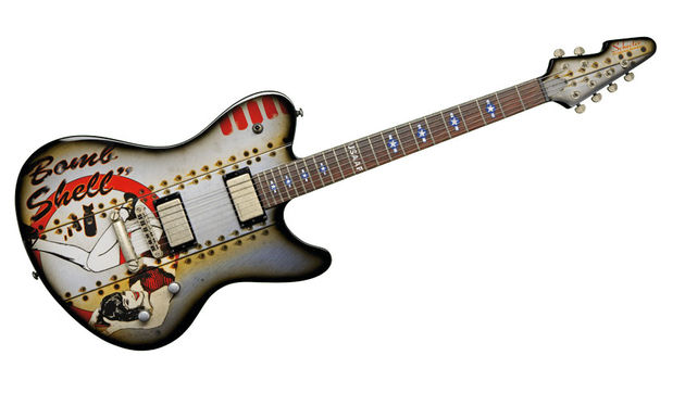 The Ultra B-17 Bombshell takes some design inspiration from the Gibson Firebird
