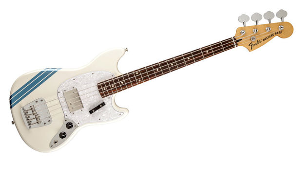 The Pawn Shop Mustang Bass replaces the original split-coil pickup with a flexible humbucker