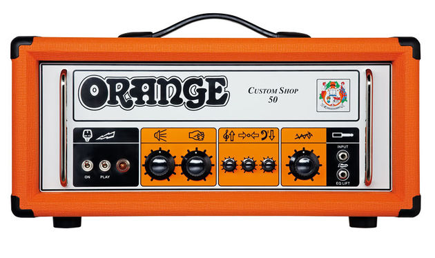 The CS 50 celebrates Orange's 'pics only' amps with graphic symbols to represent the knob functions