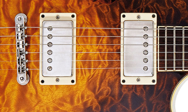 The Throbak MXV humbuckers are wound on the actual pickup machines from Gibson's golden era