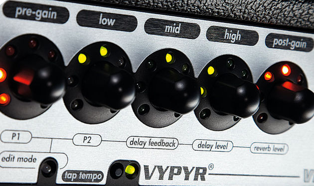Peavey's unique WYSIWYG gain and EQ controls mean that every time you select a new patch you can instantly see where you are and what needs to be turned down (or up)