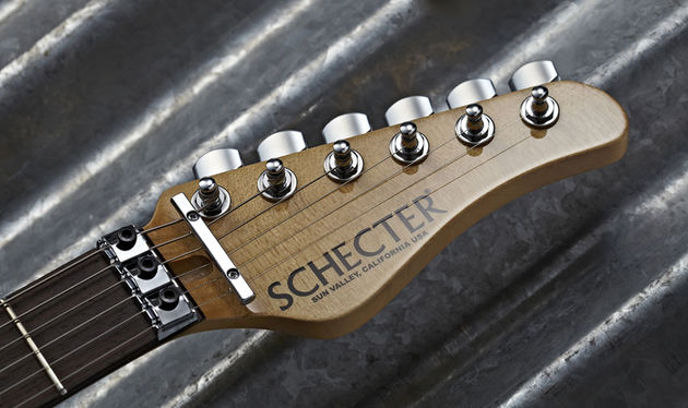 Our example shipped with Gotoh tuners, but they'll be Hipshot on your guitar