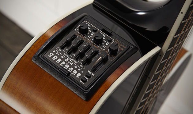 The latest generation CT4-DX preamp with four-band EQ, volume control, onboard tuner and Palathetic under-saddle pickup