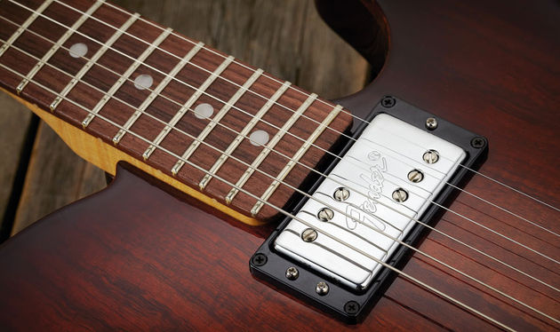 The Wide Range Special humbucker here is one of our favourite pickups, with an S1 switch for humbucker/single coil switching on the volume control - it really expands the tonal palette