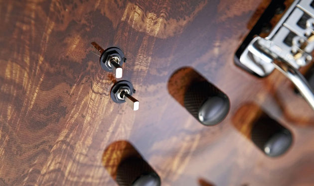 The controls and mini switches hold the key to this guitar's multi-voice capability