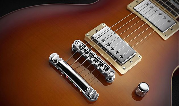 The pair of Duncan covered humbuckers offer a wide palette of modern tones