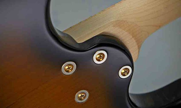 The sculpted neck heel offers access, and the extended tenon join adds stability