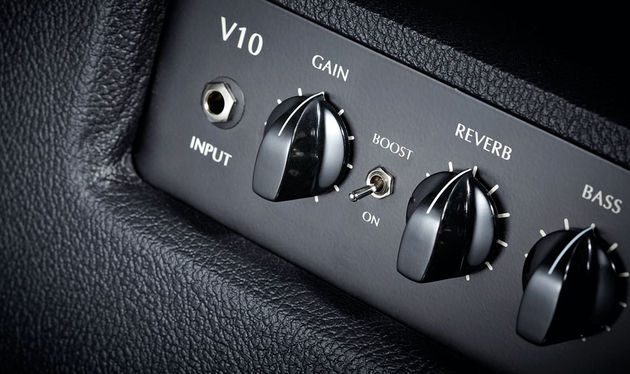 The V10's boost switch significantly increases the amp's gain range