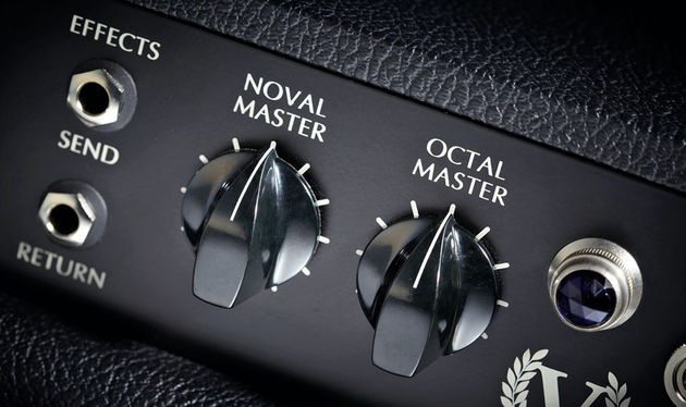 The V10 has separate master volume controls for its two output valves