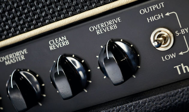 The V50 features separate reverb level controls for the clean and overdrive channels