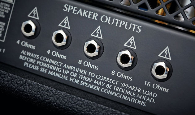 Well connected: there are fixed impedance speaker outlets for any cab combination
