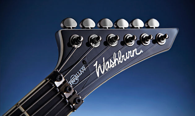 The result of several design stages and loaded with 18:1 black chrome Grover tuners, the classic pointed headstock harks back to Washburn guitars of the 1980s
