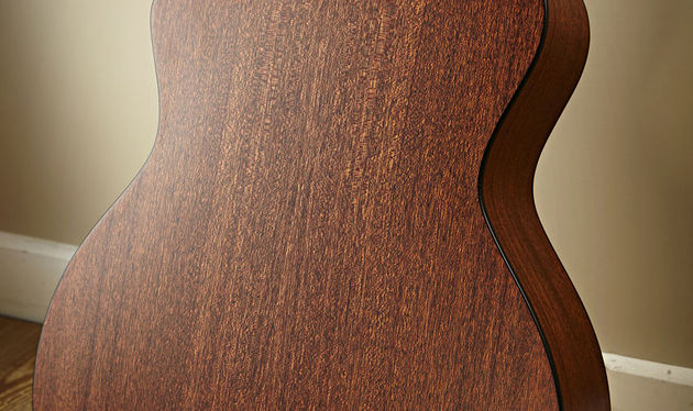 The 324ce's sapele back and sides give it a broad, open midrange