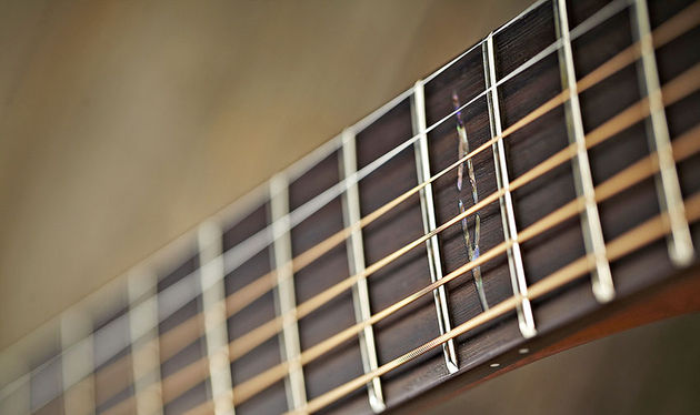 The bound rosewood necks of both guitars makes for good fretting and no visible fret ends