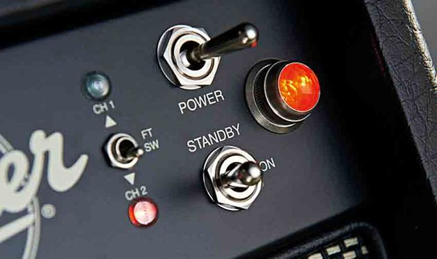 Power-wise, a pair of EL84s provide around 25 watts, with the option to switch down to 10 watts for either channel
