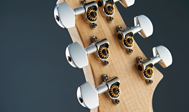 With minimum parts and plating, PRS's Phase III locking tuners are superbly functional