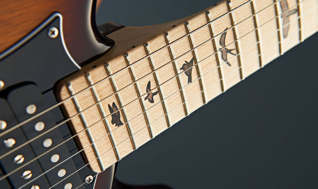 It's bird-ness as usual for PRS. Once again, there are no options except a rosewood fingerboard