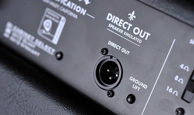 The speaker-emulated direct output features a ground-lift switch