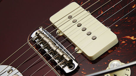 The Mustang bridge addresses the feared Jazzmaster string-pop