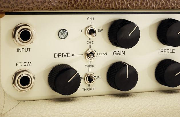 The Lonestar's front panel controls.