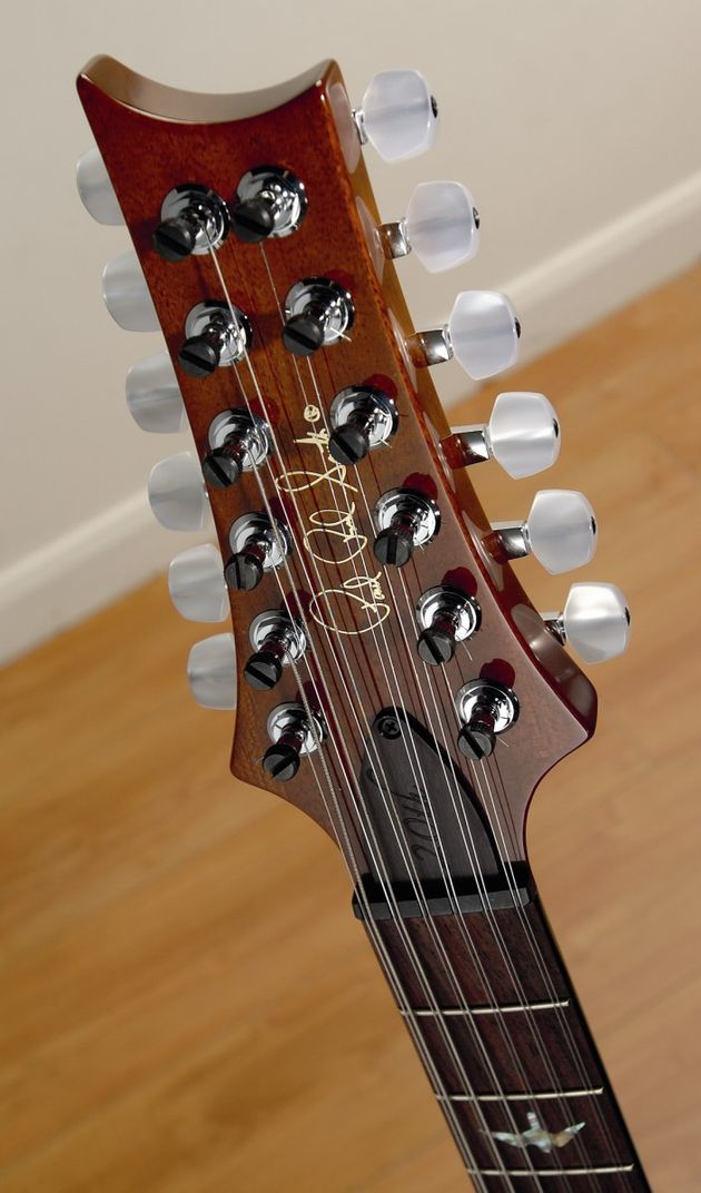 The elongated headstock doesn't upset the guitar's balance.