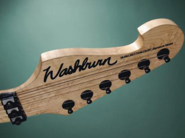 Grover tuners atop a reverse headstock