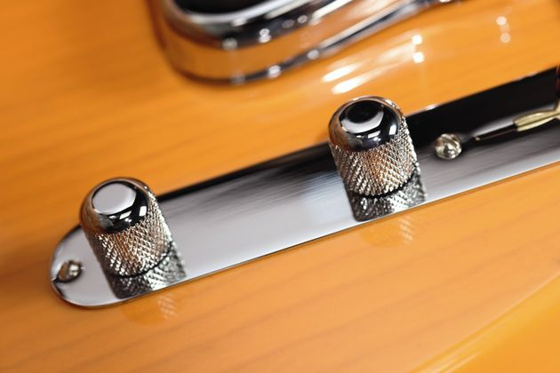 Domed chrome control knobs are an authentic touch
