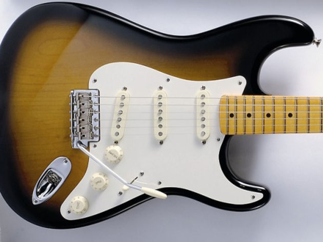 The model is based on Johnson's favourite 1957 sunburst with maple neck