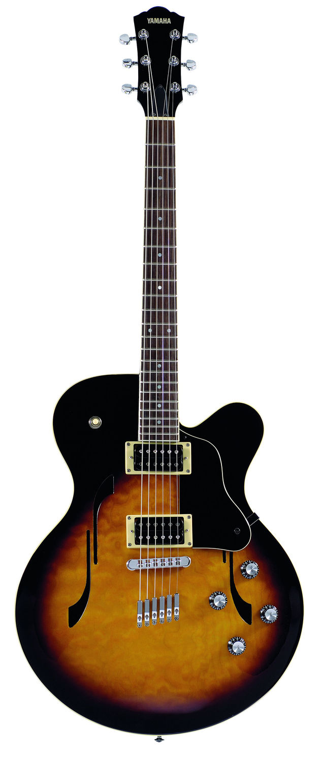 The AE500 is a single cutaway with humbuckers.