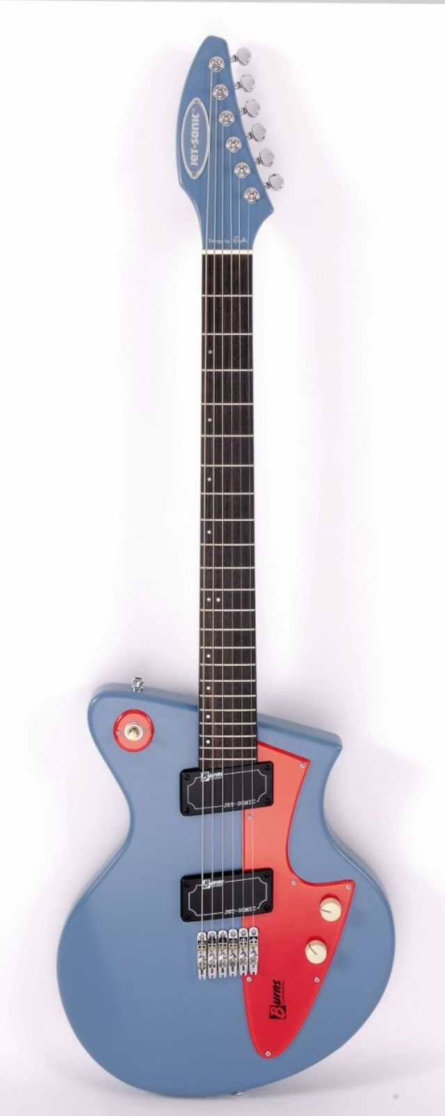 Blue finish option of the Burns Jet-Sonic