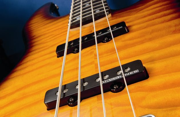 The Seymour Duncan Bassline pickups possess active circuitry