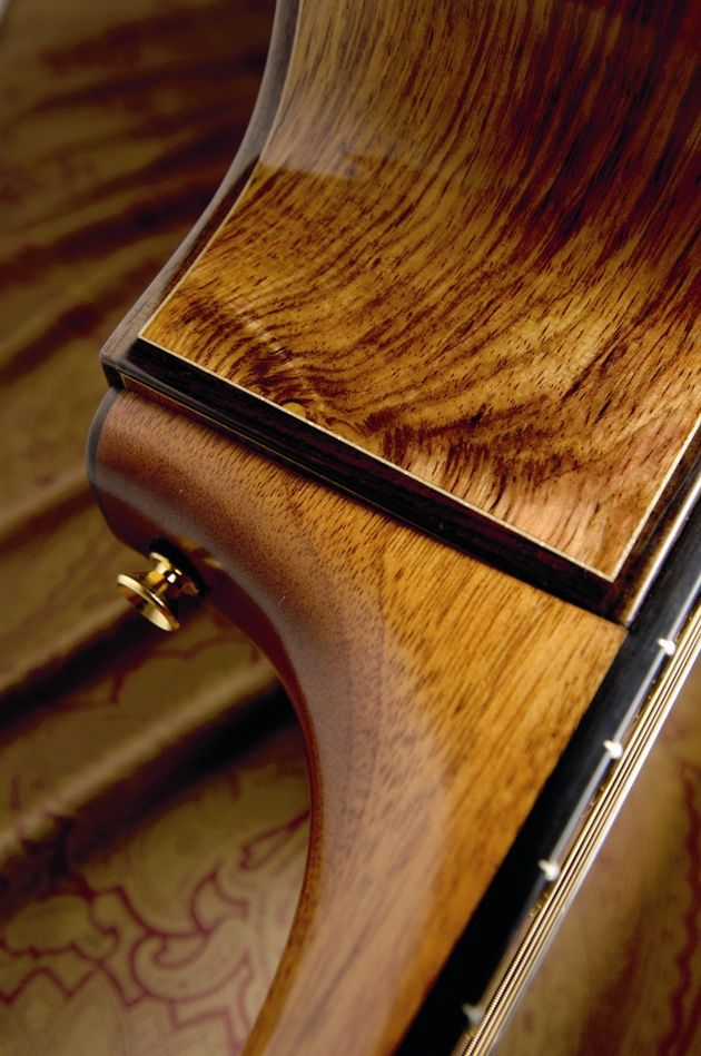 Solid rosewood sides combine with a mahogany neck.