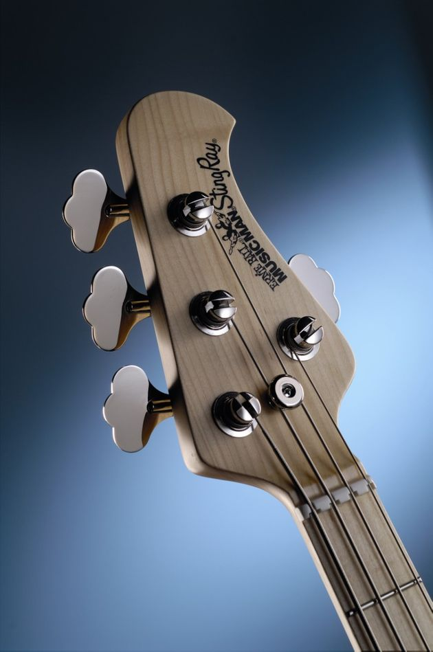 The headstock with Schaller BM tuners