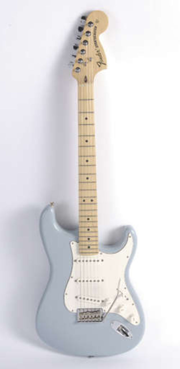 Hot Strat and Tele-single coils feature on this Strat