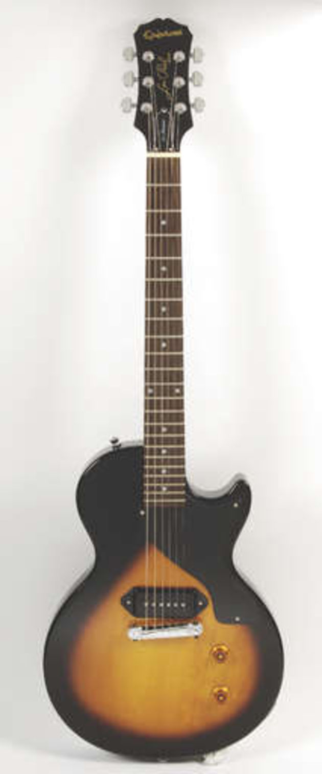 The Epi Les Paul Jr Reissue with its stacked coil P-100 pickup