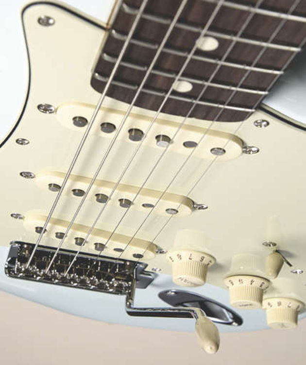 Custom '69 pickups are a little hotter than your average vintage-voiced Strat units